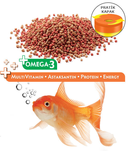Goldfish Food -Mini Mix Ponds Japon Balık Yemi